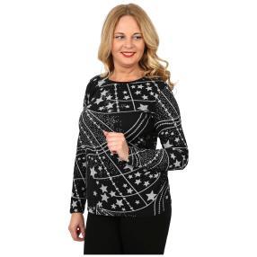 Damen-Feinstrick-Pullover 'Cara' schwarz/grau