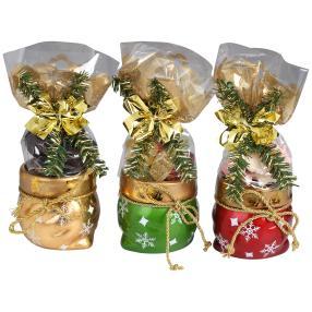 Weihnachts-Säckchen mit Kordel