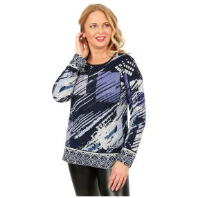 Damen-Feinstrick-Pullover 'Lana' blau