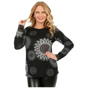 Damen-Feinstrick-Pullover 'Alice' schwarz