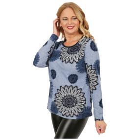 Damen-Feinstrick-Pullover 'Alice' blau