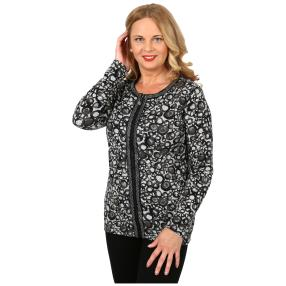 Damen-Feinstrick-Cardigan 'Betty' anthra