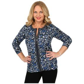 Damen-Feinstrick-Cardigan 'Betty' blau
