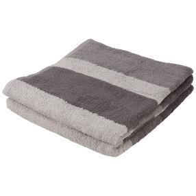 Duschtuch 2er Set, Streifen grau