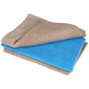 Clean Wounder Bodentücher 3tlg. 2x grau, 1x türkis