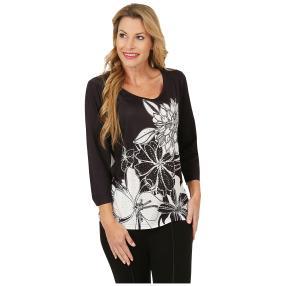 BRILLIANTSHIRTS Shirt 'Grado' schwarz/weiß