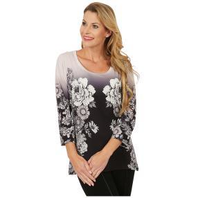 BRILLIANTSHIRTS Shirt 'Annona' schwarz/weiß