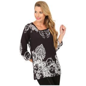 BRILLIANTSHIRTS Shirt 'Lacona' schwarz/weiß