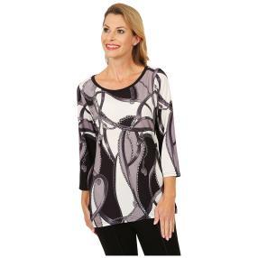 BRILLIANTSHIRTS Shirt 'Pila' schwarz/weiß