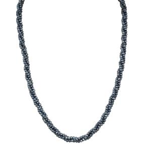 Collier Pyrit 3-reihig 925 Sterling Silber
