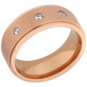 Ring Titan rosévergoldet, Zirkonia