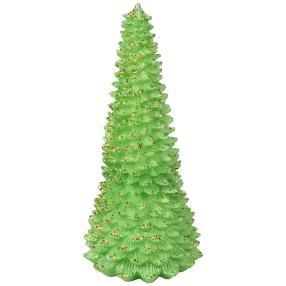 LED-Baum Glitter grün/gold