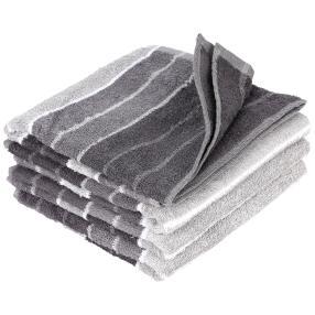 Handtuch 4er-Set grau