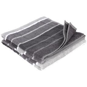 Duschtuch 2er Set, grau