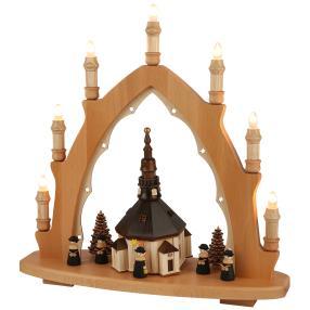 SAICO Lichterspitze Seiffener Kirche 8-flammig