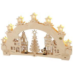 SAICO Lichterbogen Weihnachtsmarkt 7-flammig