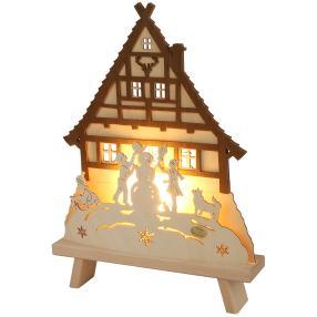 SAICO Dekoleuchte-Spitze Waldhaus