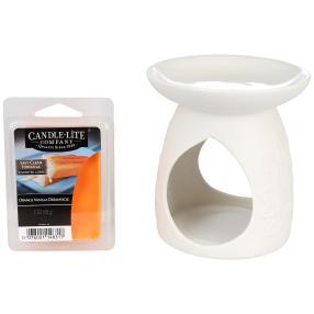 CL Geschenkset Orange-Vanille Duftlampe & Wachs