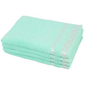 Handtuch Grafik 4-teilig mint