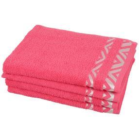 Handtuch Grafik 4-teilig, pink