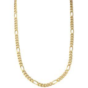 Figarokette 585 Gelbgold diamantiert ca. 50cm