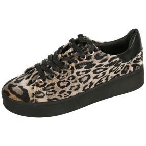 MONSHOE Damen Sneaker, braun. schwarz
