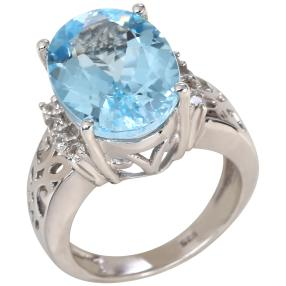Ring 925 Sterling Silber Sky Blue Topas behandelt