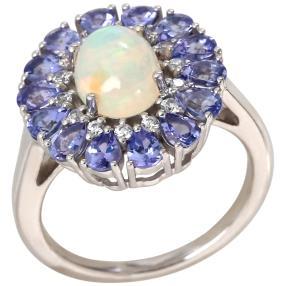 Ring 925 Sterling Silber, Äthiopischer Opal