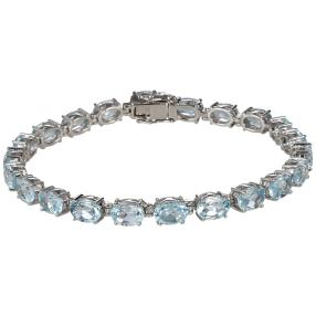 Armband 925 Sterling Silber Sky Blue Topas beh.