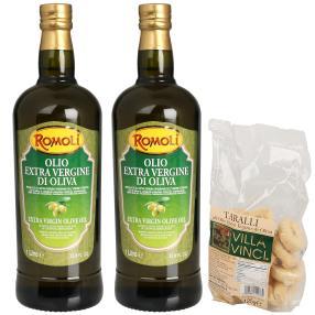 Romoli Olivenöl Extra Vergine,Taralli Gebäck 125 g