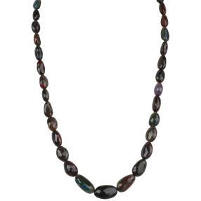 Collier äthiop. Opal 925 Sterling Silber