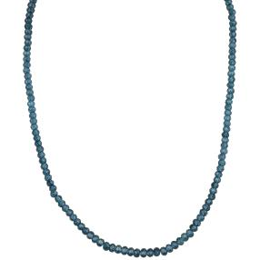 Collier London Blue Topas, 925 Silber vergoldet