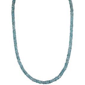 Collier Zirkon blau 925 Sterling Silber vergoldet