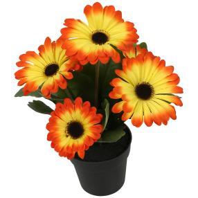 Gerberabusch orange, 27 cm
