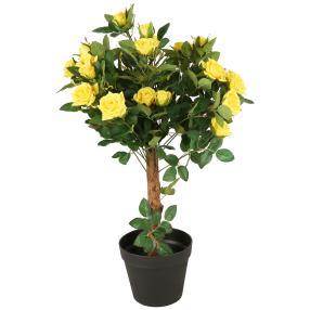 Rosenkugelbaum gelb, ca. 65 cm