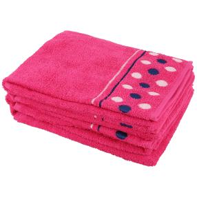 Handtuch Punkte 4er Set, pink