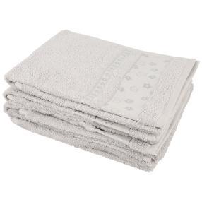 Handtuch Blumen 4er-Set silber