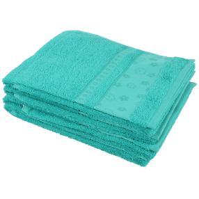 Handtuch Blumen 4er Set, smaragd