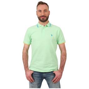 U.S. POLO ASSN. Polo-Shirt hellgrün