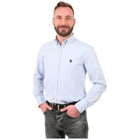U.S. POLO ASSN. Hemd blau/weiß gestreift