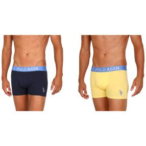 2er Pack U.S. POLO ASSN. Boxershorts gelb/marine