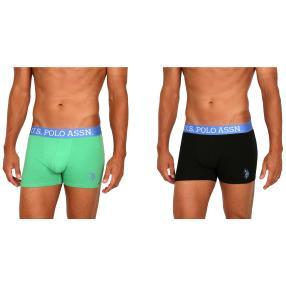 2er Pack U.S. POLO ASSN. Boxershorts grün/schwarz