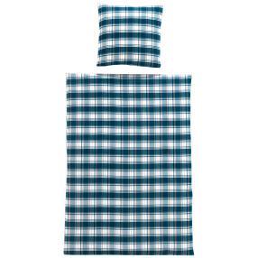 OPTIDREAM Premium Biber-Bettwäsche blau