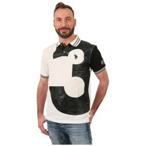 U.S. POLO ASSN. Polo-Shirt 'N.3' weiß/schwarz
