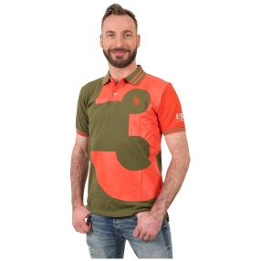 U.S. POLO ASSN. Polo-Shirt 'N.3' oliv/orange