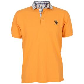 US. POLO ASSN. Polo-Shirt 'Check' apricot