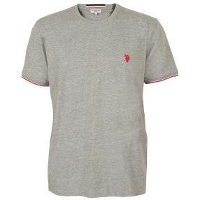 US. POLO ASSN. T-Shirt 'Rib' grau
