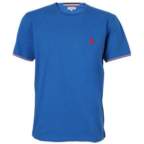 US. POLO ASSN. T-Shirt 'Rib' royalblau