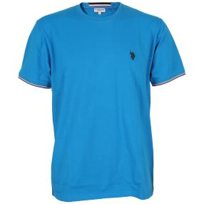 US. POLO ASSN. T-Shirt 'Rib' blau
