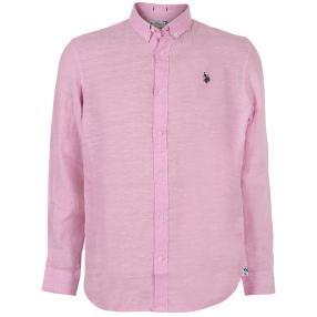 US. POLO ASSN. Leinen-Hemd rosé
